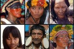 Compilation of pictures of Native Brazilians from the tribes Assurini, Tapirajé, Kaiapó, Kapirapé, Rikbaktsa and Bororo-Boe