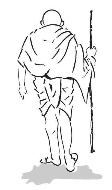 mahatma-gandhi-sketch